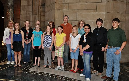 Twelve Student Poets who read at the State Capitol May 6, 2011