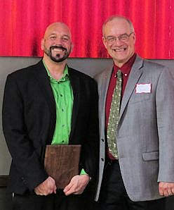Jeff Grinvalds, Teacher of the year with Robert Brooke