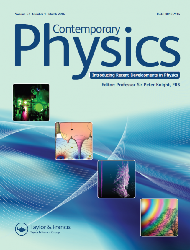 Diocles Featured on 2016 Cover of Contemporary Physics