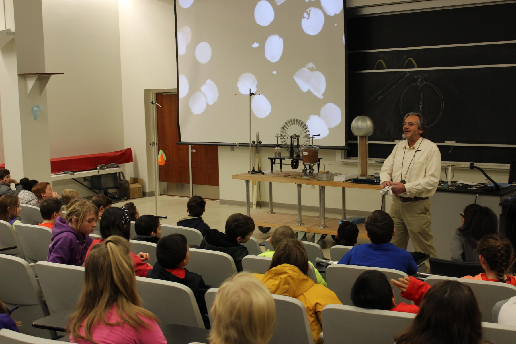 Dan Claes lectures Saturday Science Students