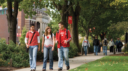 Students Walking on the UNL Campus