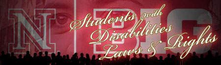 B1G Red Logo with Students with Disabilities Laws & Rights written across the image