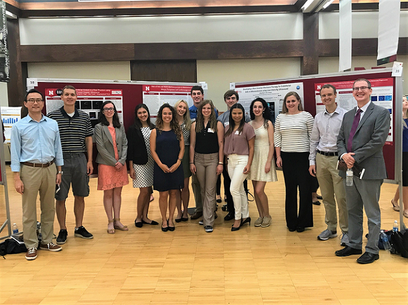 2017 Biomedical REU scholars at the Symposium.